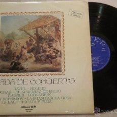 Discos de vinilo: VELADA DE CONCIERTO - LP BELTER. Lote 52321408