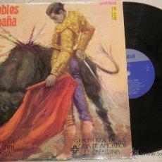 Discos de vinilo: PASODOBLES DE ESPAÑA BANDA TAURINA. LP. LA VIRGEN DE LA MACARENA. MADE IN SPAIN. 1981. Lote 52321612
