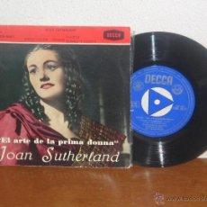Discos de vinilo: JOAN SUTHERLAND 7´´ EXTENDED PLAY EL ARTE DE LA PRIMA DONNA MONO ESPAÑA 1961. Lote 52324448