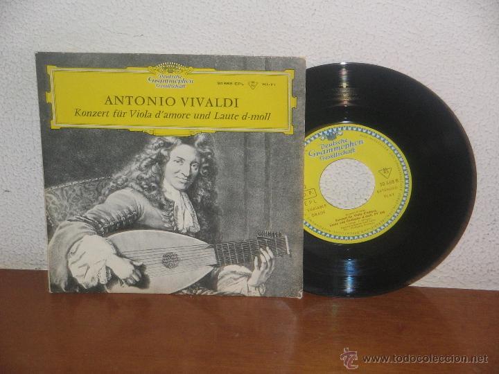 ANTONIO VIVALDI 7´´ MEGA RARO EXTENDED PLAY KONZERT FÜR VIOLA D´ AMORE UND LAUTE D-MOLL GERMANY (Música - Discos - Singles Vinilo - Clásica, Ópera, Zarzuela y Marchas)