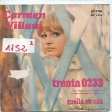 Dischi in vinile: CARMEN VILLANI / TRENTA 0233 / QUELLA STRADA (SINGLE PROMO ITALIANO). Lote 58523951
