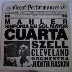 Discos de vinilo: GREAT PERFORMANCES 24 - MAHLER - CUARTA SINFONÍA EN SOL MAYOR. Lote 52333244