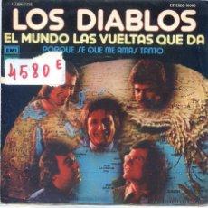 Disques de vinyle: LOS DIABLOS / EL MUNDO LAS VUELTAS QUE DA + 1 (SINGLE PROMO 1975). Lote 52338866