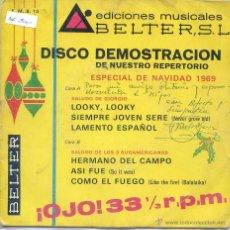 Discos de vinilo: DISCO DEMOSTRACION BELTER 6 TEMAS (EP PROMO 1969 VER TEMAS) 33 RPM. Lote 52339128