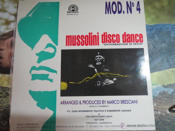 Discos de vinilo: MUSSOLINI DISCO - Foto 2 - 52340966