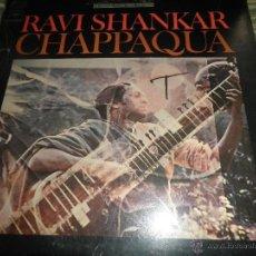 Discos de vinilo: RAVI SHANKAR CHAPPAQUA LP - ORIGINAL U.S.A. - COLUMBIA MASTERWORKS 1966 - GATEFOLD COVER -. Lote 52342155