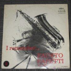 Disques de vinyle: FAUSTO PAPETTI - I REMEMBER Nº 2 - PALOBAL DURIUM - SPAIN - 1971 - IBL. Lote 52362459