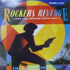 Discos de vinilo: ROCKERS REVENGE FEATURING DONNIE CALVIN-THE HARDER THEY COME MAXI SINGLE VINILO 1983 SPAIN. Lote 52363322