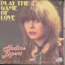 Discos de vinilo: PLAY THE GAME OF LOVE ··· NADINE EXPERT .. Lote 52365874