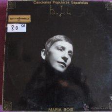 Discos de vinilo: LP - MARIA BOIX - CANCIONES POPULARES ESPAÑOLAS (SPAIN, ZAFIRO 1969, PORTADA DOBLE). Lote 52372767