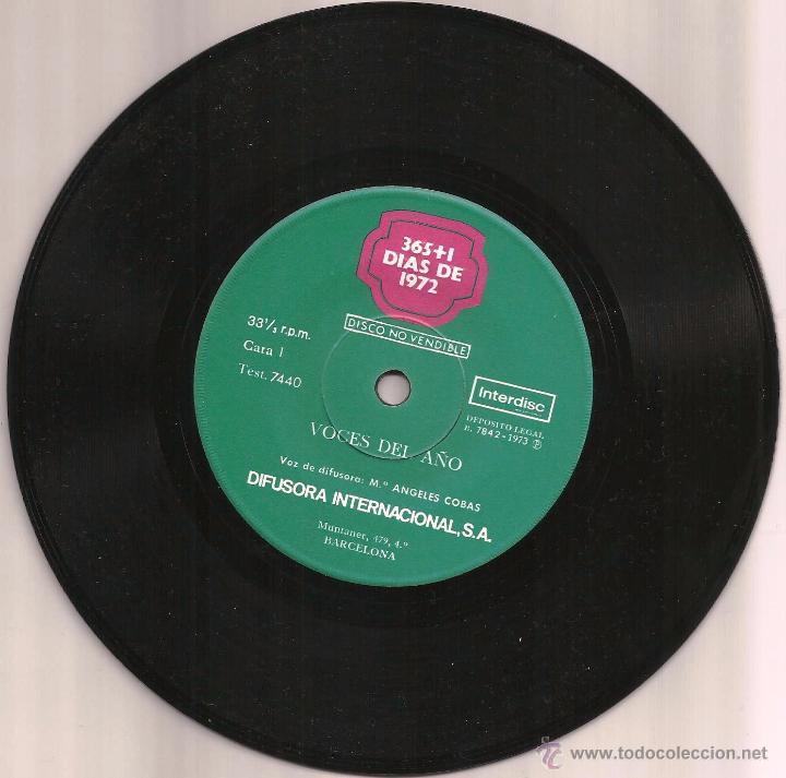 Discos de vinilo: Disco de Vinilo -365+1 DIAS DE 1972- - Foto 2 - 52376188