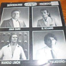 Discos de vinilo: JUAN CARO/ EL ECIJANO/ MANOLO LIMON/ PACO EL MALAGUEÑO - EP PERFIL 1987 -. Lote 52376315
