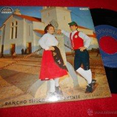 Discos de vinilo: RANCHO TIPICO DE BENAVENTE SETE SAIAS.FANDANGO/ESCOVINHA +3 EP RAPSODIA FOLK TRADICIONAL PORTUGAL. Lote 179193387
