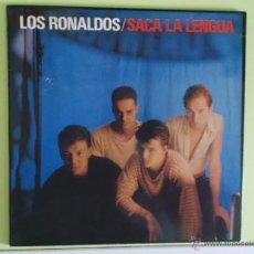 Discos de vinilo: LOS RONALDOS - SACA LA LENGUA 1988 CON ENCARTES. Lote 52390028