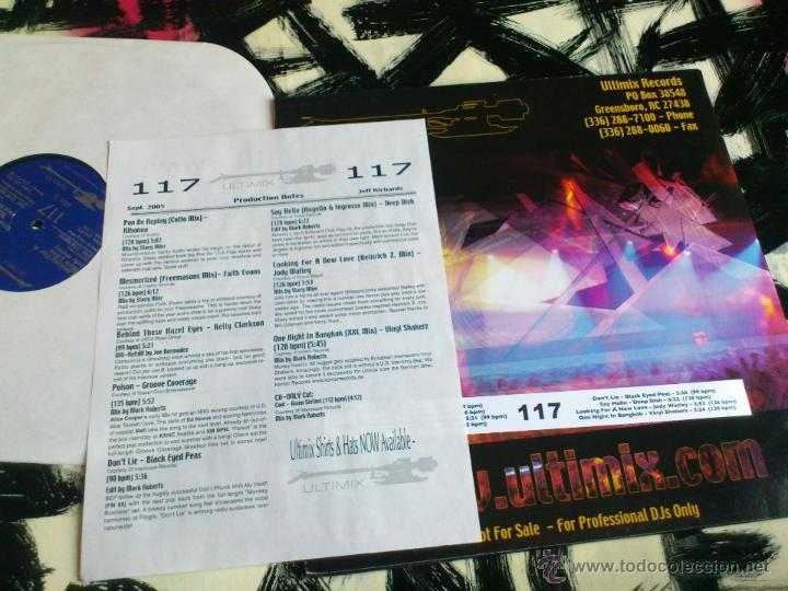 Discos de vinilo: ULTIMIX 117 - JEFF RICHARDS TOP TRACKS - SEPTEMBER 2005 - DOBLE VINILO - Foto 3 - 52392785