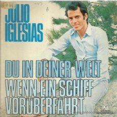 Discos de vinilo: JULIO IGLESIAS SINGLE SELLO COLUMBIA AÑO 1973 CANTA EN ALEMAN. Lote 52393010