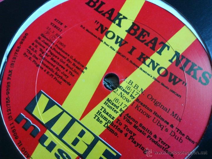 Discos de vinilo: BLACK BEAT NIKS - NOW I KNOW - MAXI - VINILO - VIBE - DUB - 1995 - Foto 3 - 52393662