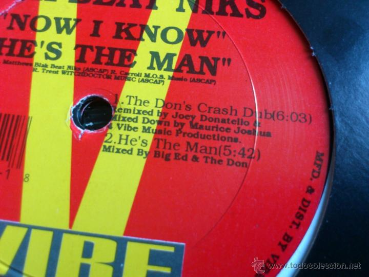 Discos de vinilo: BLACK BEAT NIKS - NOW I KNOW - MAXI - VINILO - VIBE - DUB - 1995 - Foto 4 - 52393662