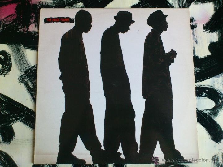 THE BLACK FLAMES - DANCE WITH ME - LP - VINILO - CBS - 1990 (Música - Discos - LP Vinilo - Rap / Hip Hop)