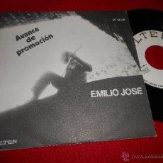Discos de vinilo: EMILIO JOSE PUERO PESCADOR/SALUDOS DE EMILIO JOSE 7 SINGLE 1970 BELTER PROMO EX. Lote 52399311