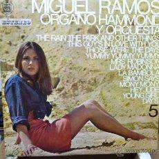 Discos de vinilo: MIGUEL RAMOS Y SU ORGANO HAMMOND CONTIENE VERSSIONES DE THE BEATLES- . Lote 52402397