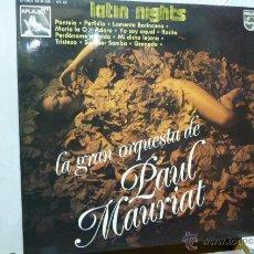 Discos de vinilo: PAUL MAURIAT Y SU GRAN ORQUESTA-LATIN NITS. Lote 52402471