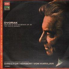Discos de vinilo: DVORAK ORQUESTA FILARMONICA DE BERLIN HERBERT VON KARAJAN LP. Lote 52425032