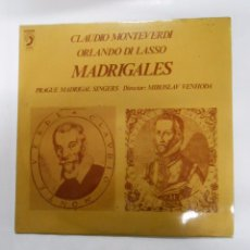 Discos de vinilo: CLAUDIO MONTEVERDI. ORLANDO DI LASSO. MADRIGALES. MIROSLAV VENHODA. TDKDA2. Lote 52426889