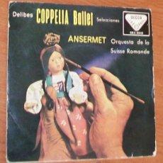 Discos de vinilo: LEO DELIBES -EP VINILO 7``- COPELIA BALLET, ORQUESTRA DE LA SUISSE ROMANDE. Lote 52427841
