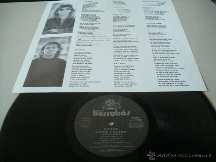Discos de vinilo: LEIZE LP LOCA PASION BARRABAS ORIGINAL ESPAÑA 1993 + ENCARTE - Foto 3 - 52432589