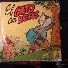 Discos de vinilo: EL GATO CON BOTAS 1961 DISCOS INFANTILES ODEON. Lote 52440336