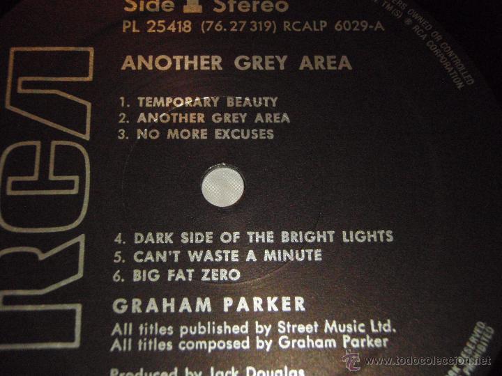 Discos de vinilo: GRAHAM PARKER ( ANOTHER GREY AREA ) 1982 - GERMANY LP33 RCA - Foto 3 - 52447391