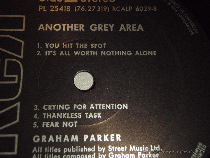 Discos de vinilo: GRAHAM PARKER ( ANOTHER GREY AREA ) 1982 - GERMANY LP33 RCA - Foto 4 - 52447391