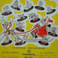 Discos de vinilo: CUENTOS INFANTILES 'LOS DOS CONEJOS / LA LECHERA'. AÑO 1962. SÓLO LA FUNDA, DISCO NO INCLUIDO.. Lote 52448486