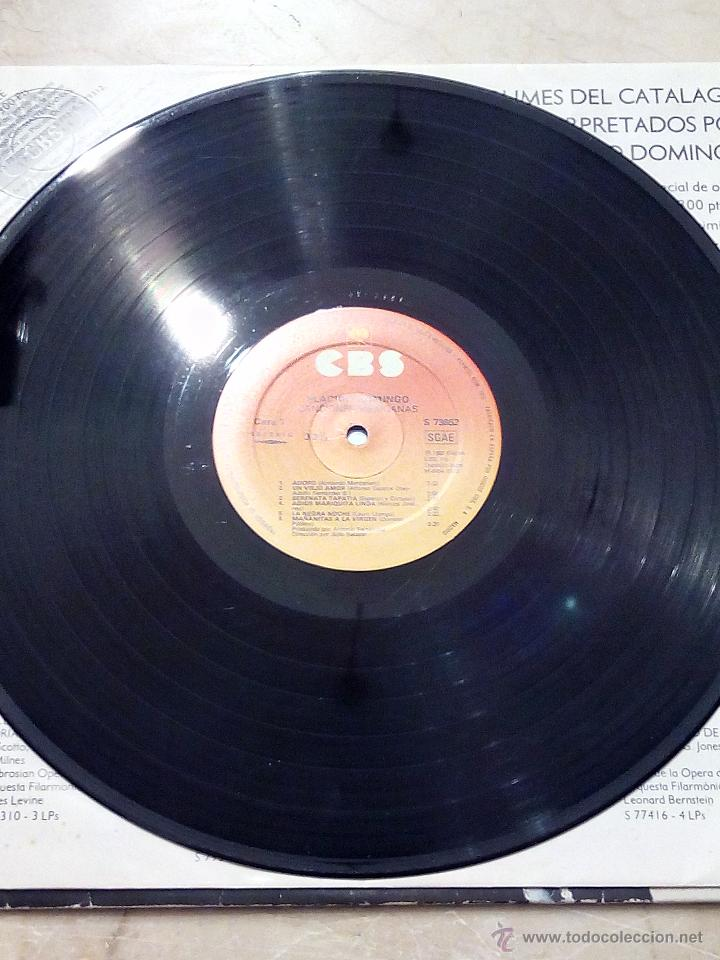 Discos de vinilo: LP PLÁCIDO DOMINGO - CANCIONES MEXICANAS - ADORO - UN VIEJO AMOR........ - CBS 1982. - Foto 5 - 52448868