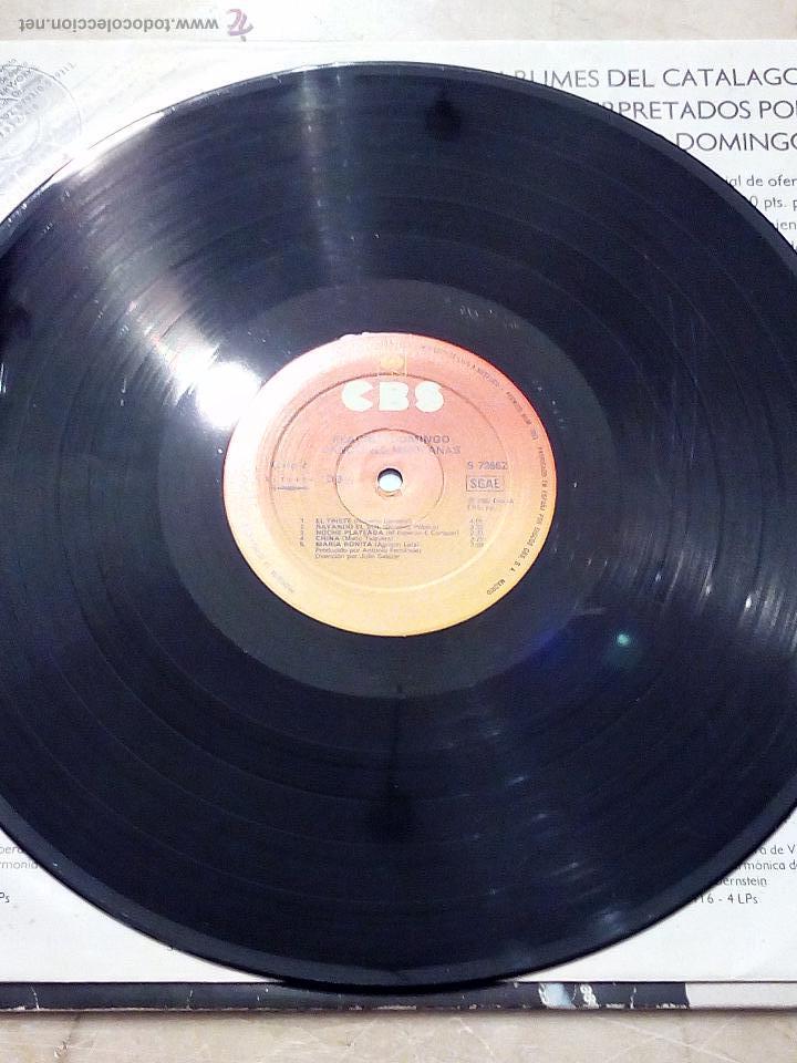 Discos de vinilo: LP PLÁCIDO DOMINGO - CANCIONES MEXICANAS - ADORO - UN VIEJO AMOR........ - CBS 1982. - Foto 6 - 52448868