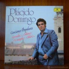 Discos de vinilo: PLACIDO DOMINGO - CANCIONES POPULARES (POLYDOR, 1982). Lote 52468529