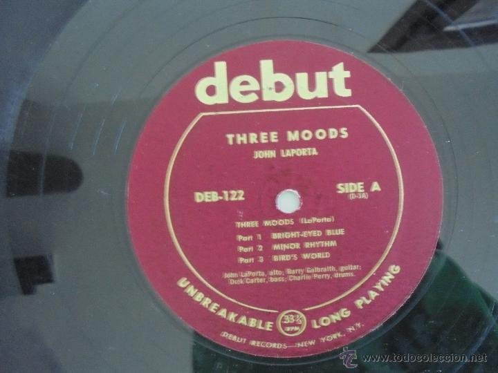 Discos de vinilo: JOHN LAPORTA 3 MOODS WITH LOUIS MUCCI BARRY GALBRAITH. DEBUT RECORDS NEW YORK. SIN FECHAR. VER FOTOS - Foto 5 - 52473234