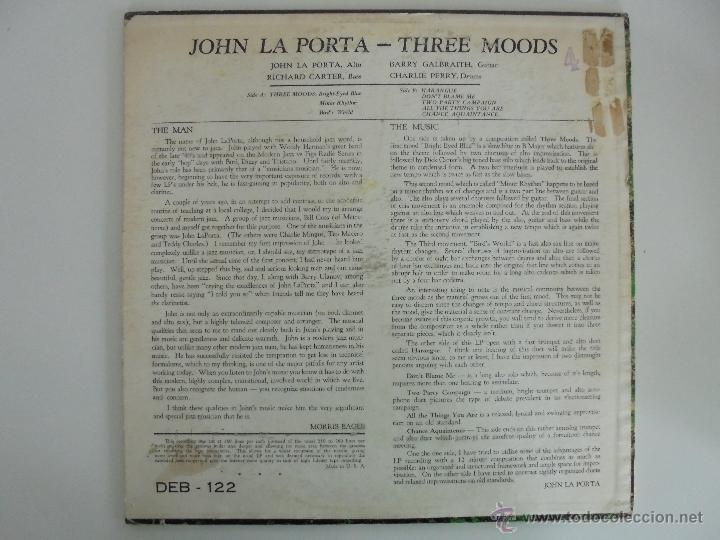 Discos de vinilo: JOHN LAPORTA 3 MOODS WITH LOUIS MUCCI BARRY GALBRAITH. DEBUT RECORDS NEW YORK. SIN FECHAR. VER FOTOS - Foto 8 - 52473234
