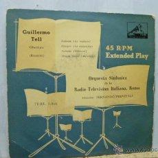 Discos de vinilo: GUILLERMO TELL-ORQUESTA R.T.I.-DIRECTOR FERNANDO PREVITALLI-. Lote 52474204