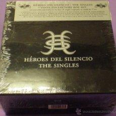 Discos de vinilo: HÉROES DEL SILENCIO - THE SINGLES - BOX SET CON 21 SINGLES 7' - EDICIÓN LIMITADA (2007) - PRECINTADA. Lote 188552005