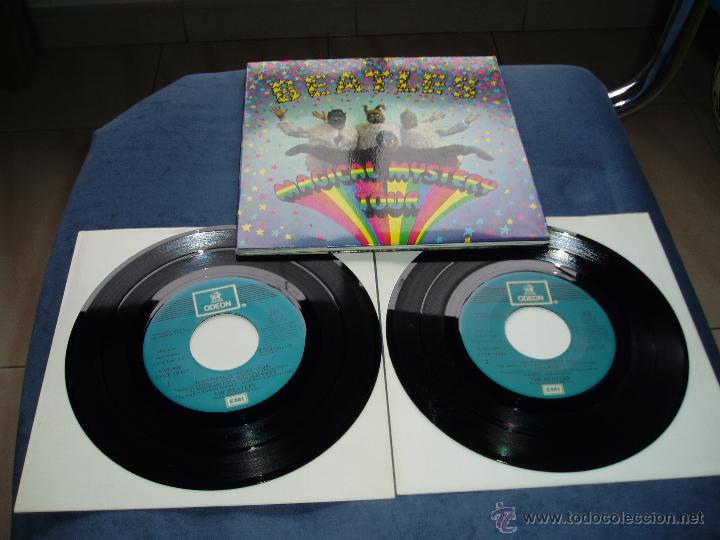 THE BEATLES EP DOBLE MAGICAL MISTERY TOUR MEGARARO AZUL CLARO SPAIN MINT- (Música - Discos de Vinilo - EPs - Pop - Rock Extranjero de los 50 y 60)