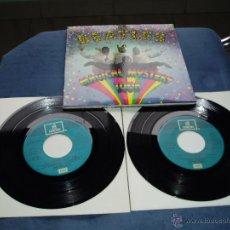 Discos de vinilo: THE BEATLES EP DOBLE MAGICAL MISTERY TOUR MEGARARO AZUL CLARO SPAIN MINT-. Lote 218004045