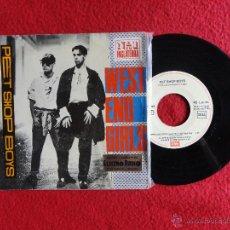 Discos de vinilo: PET SHOP BOYS - WEST END GIRLS / A MAN COULD GET ARRESTED // SINGLE // 1985 // VINILO A ESTRENAR. Lote 52482068