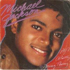 Discos de vinilo: SINGLE MICHAEL JACKSON P.Y.T EDITADO POR CBS ESPAÑA 1983. Lote 57358130