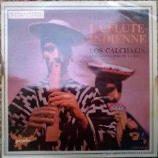 Discos de vinilo: LOS CALCHAKIS & GUILLERMO DE LA ROCA. 2 LA FLUTE INDIENNE. BARCLAY-ARION, FRANCE 1970 LP. Lote 52486896