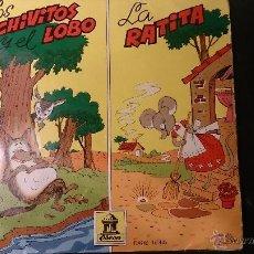 Discos de vinilo: DISCO LOS CHIVITOS Y EL LOBO . LA RATITA. 1961 ODEON DSOE 16.431. Lote 52486952