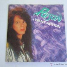 Discos de vinilo: POISON - I WANT ACTION SINGLE 1987 SPAIN * PROMO + PORTADA POSTER (EDICION LIMITADA). Lote 52487445