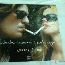 Disques de vinyle: CRISTINA ROSENVINGE & NACHO VEGAS - VERANO FATAL. Lote 52493886