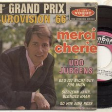 Disques de vinyle: UDO JURGENS / MERCI MERCI / EP 45 RPM . Lote 52504297